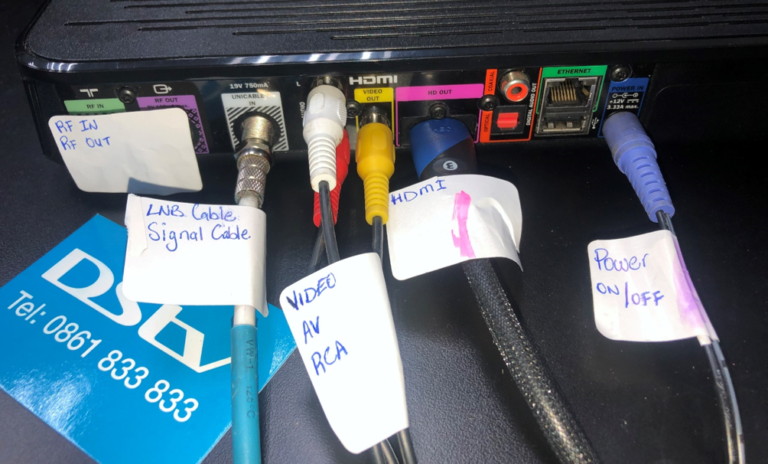 How to connect DStv cables